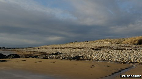 A picture of nudist beach Cleat's shore on the Isle of Arran