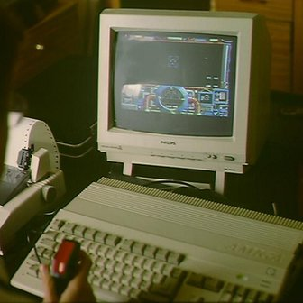 Playing Home Computer Game on Commodore Amiga 1 December 1989