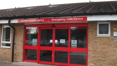 Grantham's accident and emergency unit