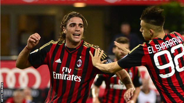 AC Milan strikers Alessandro Matri and Stephan El Shaarawy
