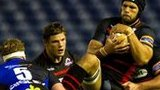 Edinburgh's Izak Vn Der Westhuizen gathers the ball at Murrayfield