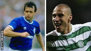 The late Davie Cooper and Henrik Larsson