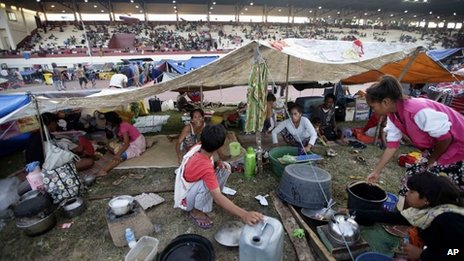 Camp for displaced people in Zamboanga