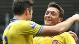 Olivier Giroud and Mesut Ozil