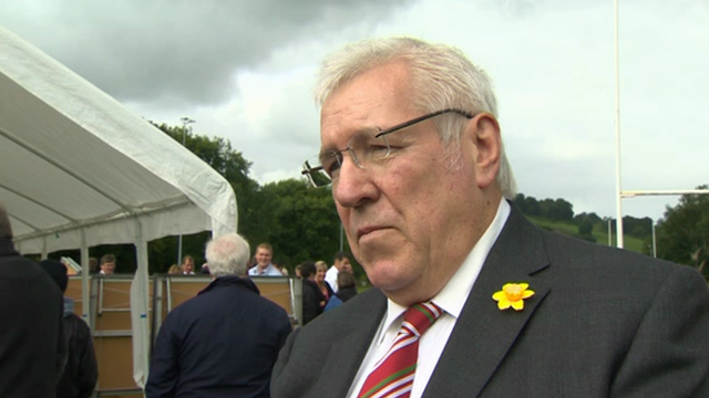 Welsh Rugby Union president Dennis Gethin