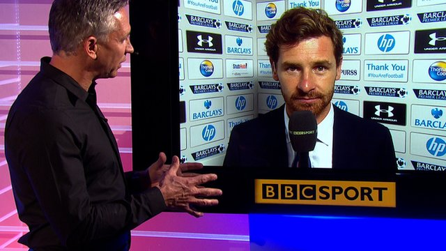 Match of the Day presenter Gary Lineker talks to Andre Villas-Boas