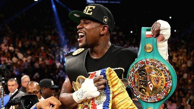 BBC Sport - Floyd MAYWEATHER beats Saul Alvarez in Las Vegas.
