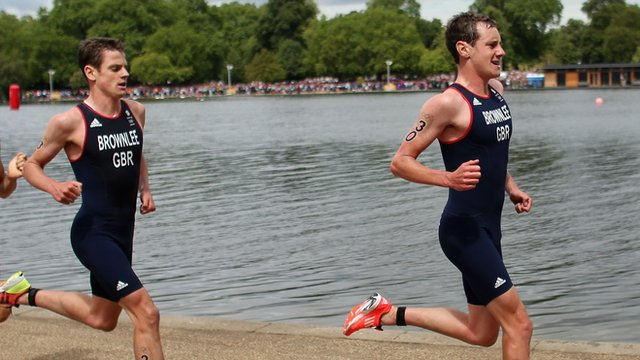 Jonny and Alistair Brownlee (L-R)