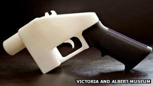 One of Cody Wilson's printed guns, acquired by the Victoria & Albert museum