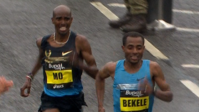 Mo Farah and Kenenisa Bekele