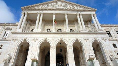 The Portuguese parliament building