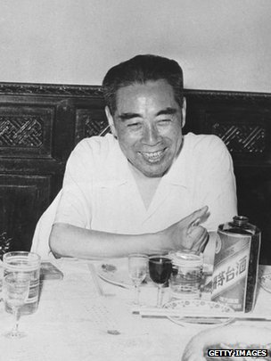 Zhou Enlai pictured in 1960 in Vietnam