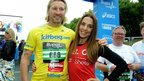 Robbie Savage and Mel C