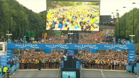 Great North Run start