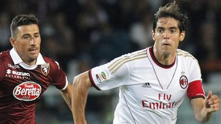 Kaka playing for AC Milan against Torino