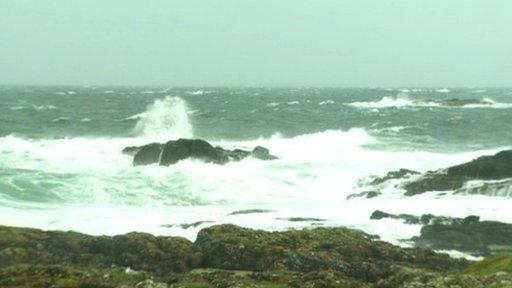 Rough seas at Ramore Head