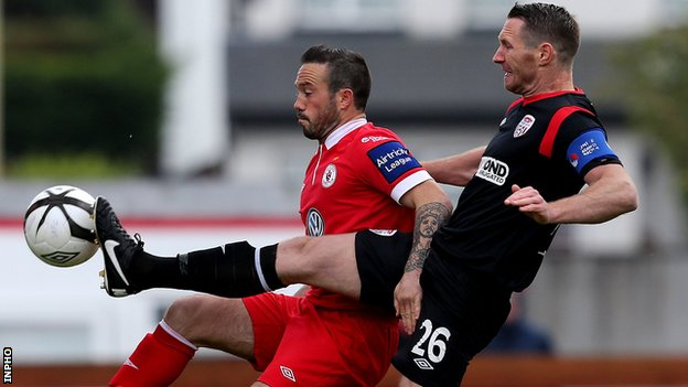 Raffaele Cretaro (left) scored Sligo's winner in Sunday's game