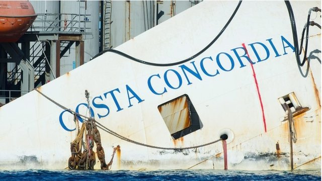 BBC News - Costa Concordia: Salvage experts ready to raise wreckage
