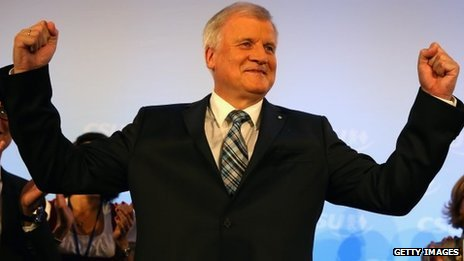 CSU leader and Bavarian Prime Minister Horst Seehofer