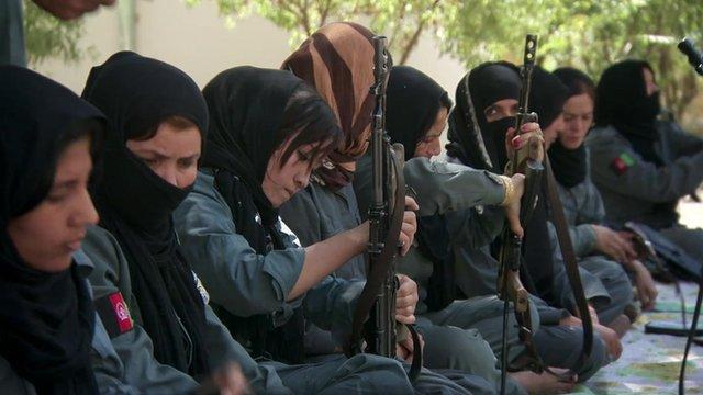 Women police officers in Afghanistan