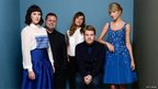 Actress Alexandra Roach, singer Paul Potts, actress Valeria Bilello, actor James Corden and singer Taylor Swift, promoting One Chance