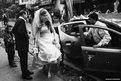 Anglo-Indian bride arrives at a church in Calcutta
