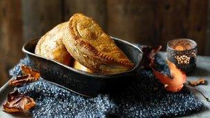 Butternut, pecan, ricotta and sage pasties