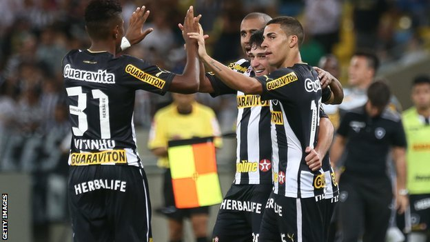 Botafogo players celebrate