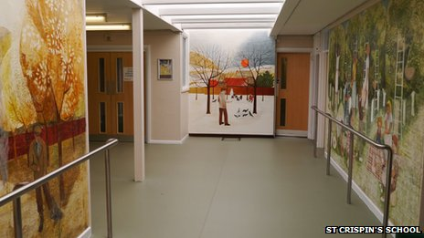 Murals at St Crispin's School