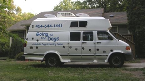 Going to the Dogs van