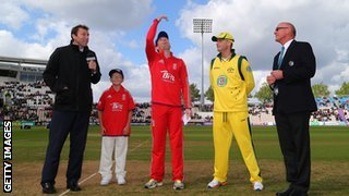 Eoin Morgan and Michael Clarke