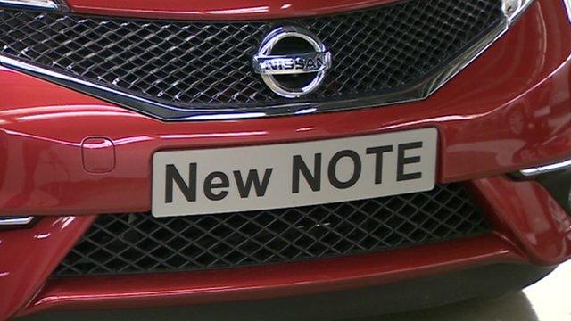 Nissan Note being built in Sunderland