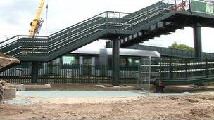 Moor Bridge crossing in Nottinghamshire