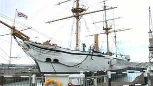 Ship at Chatham Dockyard