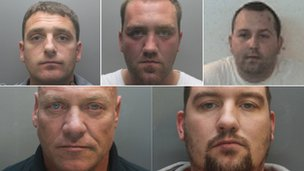 Men jailed after mines stolen