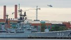 Helicopters over the Washington Navy Yard, 16 Sept