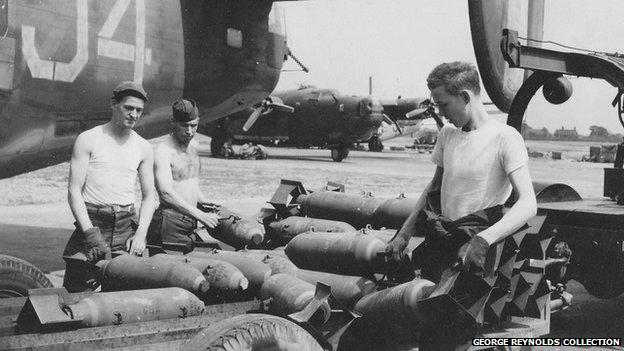 US servicemen at Horsham St Faith airfield