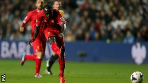 Victor Moses scores for Liverpool