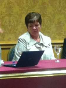 Kathleen McBrearty, whose son Darren died after an assault in Omagh, was on the panel
