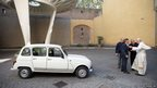 Pope Francis with the Renault 4