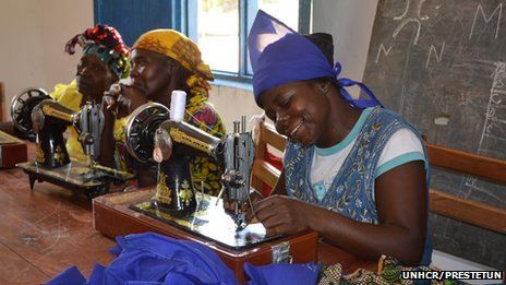Women attending a sewing class - DR Congo