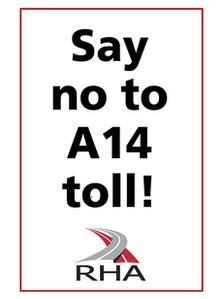 RHA anti-toll campaign sticker