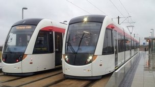 Trams in Edinburgh