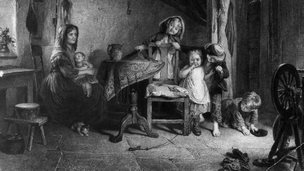 Idealised depiction of family life in 1700s