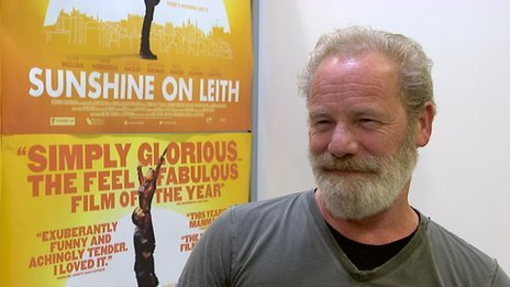 Peter Mullan said he had never been in a musical before