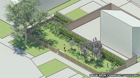 Plan for memorial garden