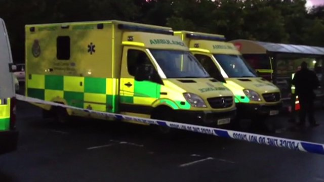 Ambulances at the scene
