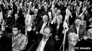 delegates at Lib Dem conference
