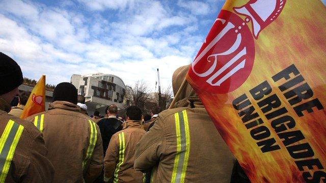 Fire Brigades Union rally
