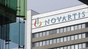 Swiss drug giant Novartis headquarters in Basel